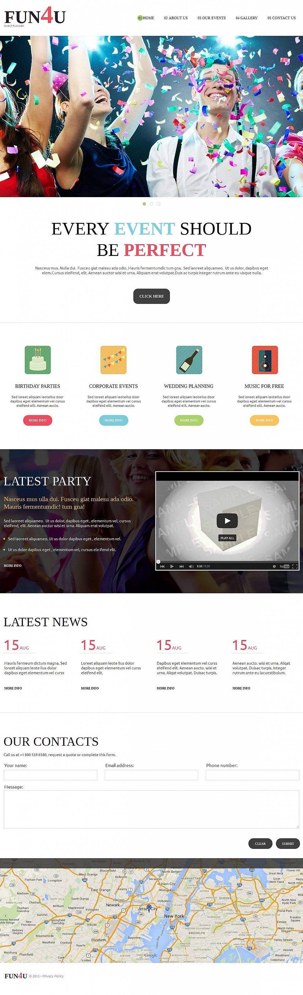 Event Planner Moto CMS HTML Template New Screenshots BIG