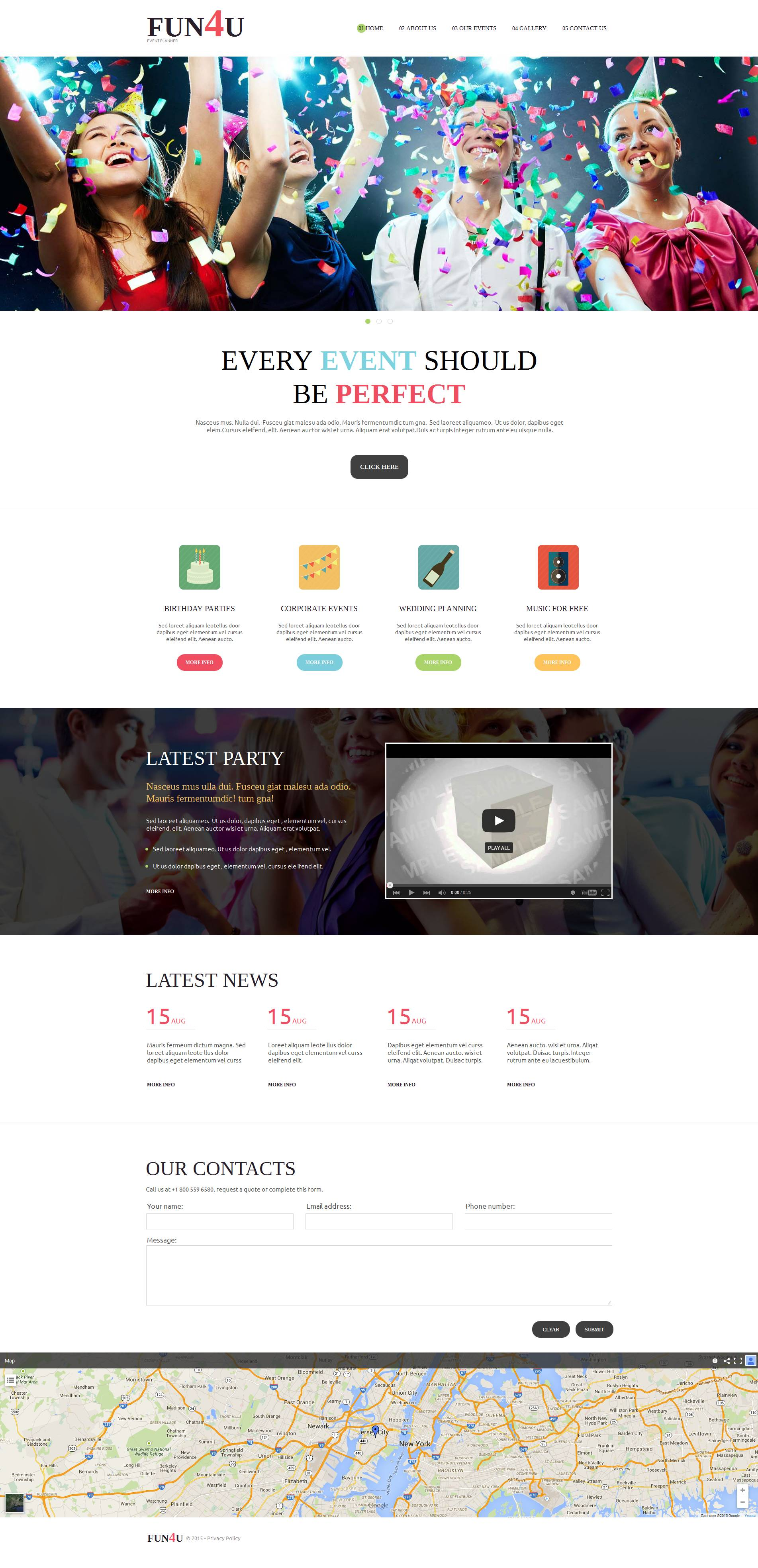 Event Planner Moto CMS HTML Template - screenshot