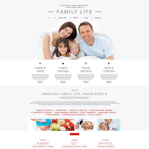 Family Life - Joomla! Template based on Bootstrap