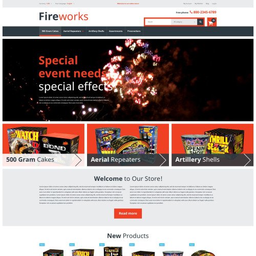 Fireworks  - Magento Template based on Bootstrap