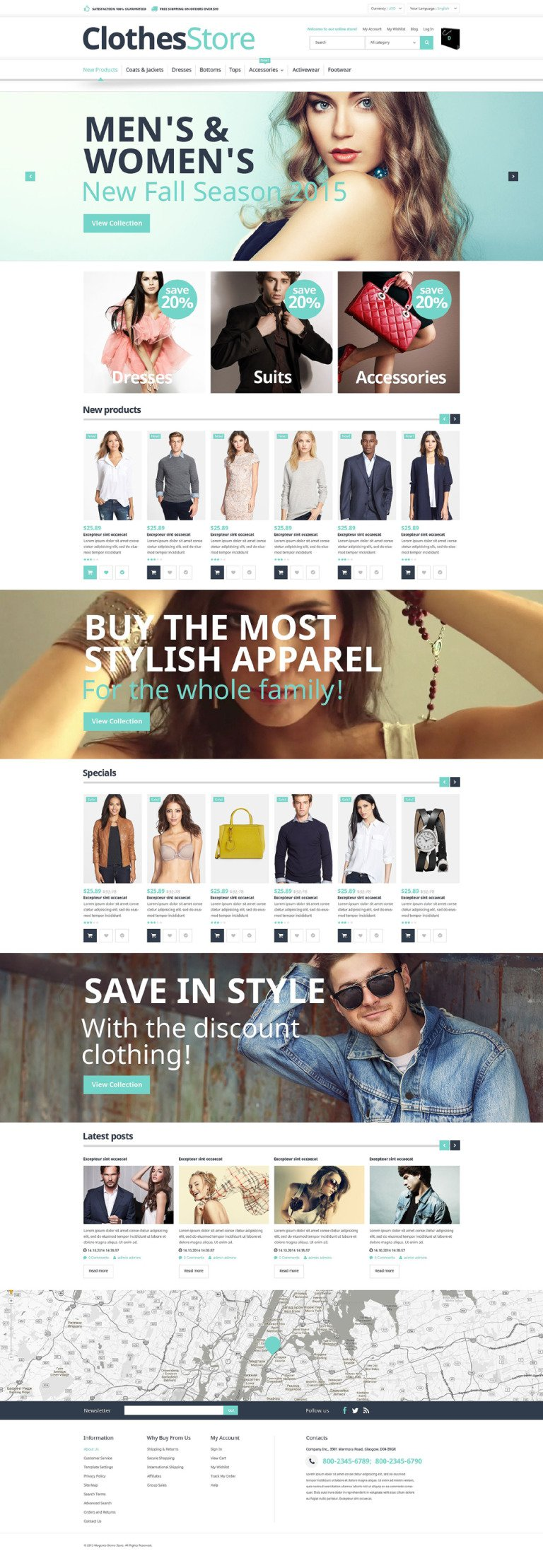 Free Magento 1.9 Template Magento Theme New Screenshots BIG