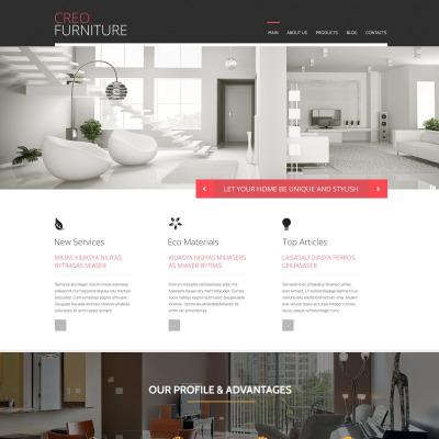 Flexível tema WordPress №53093 para Sites de Móveis