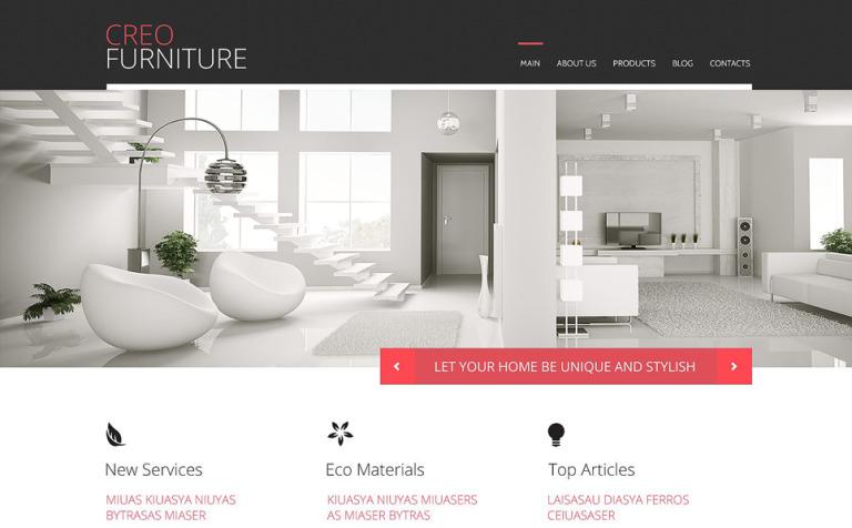 Furniture Responsive WordPress Theme WordPress Theme #53093