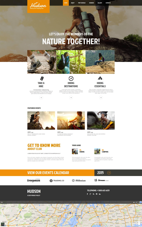 Hiking Moto CMS HTML Template