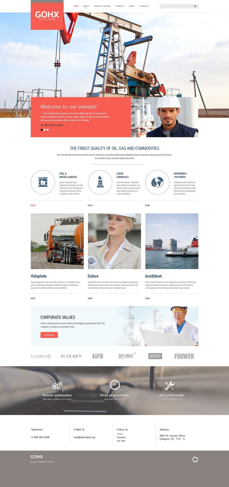 Industrial Business Website Template New Screenshots BIG