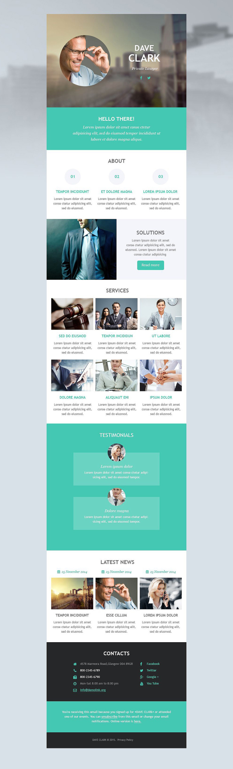 Lawyer Responsive Newsletter Template New Screenshots BIG