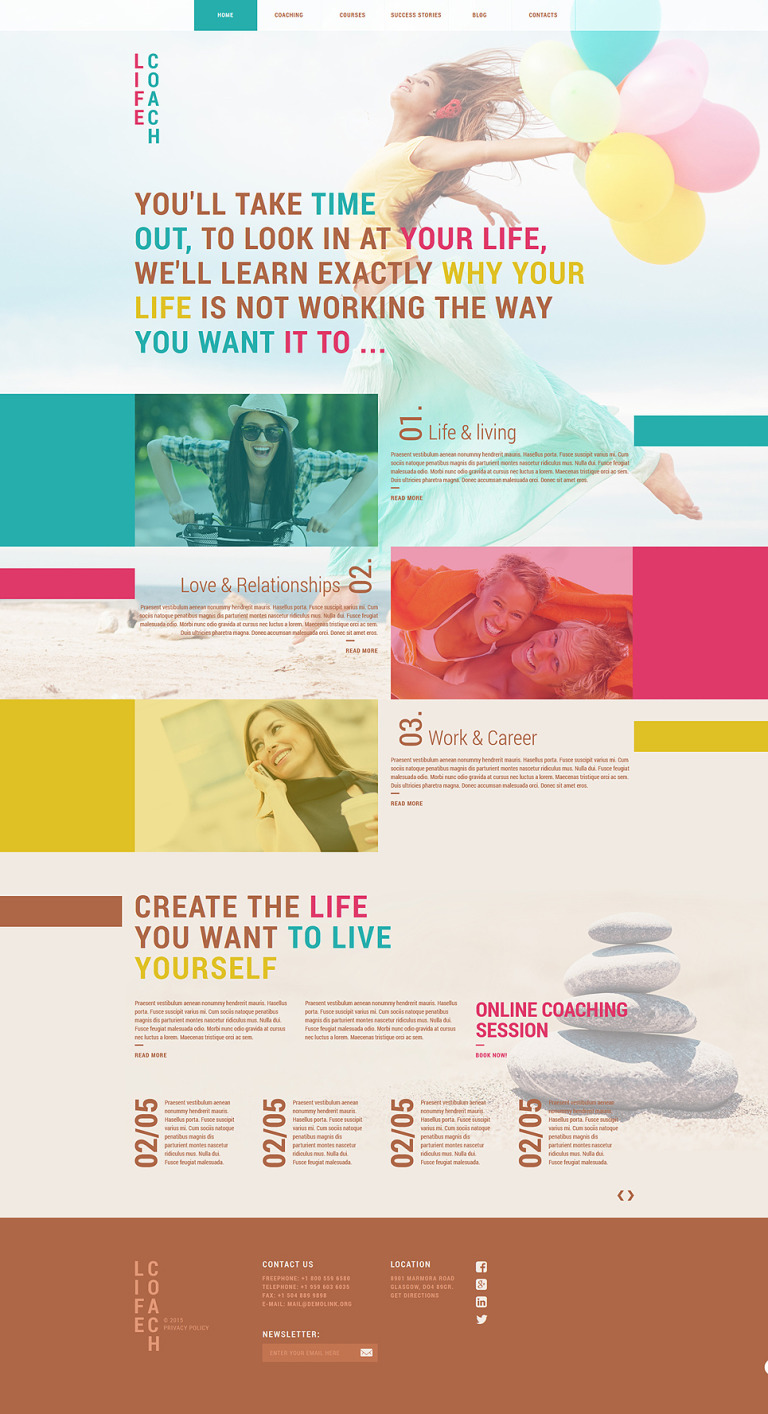Life Coach Solutions Joomla Template New Screenshots BIG