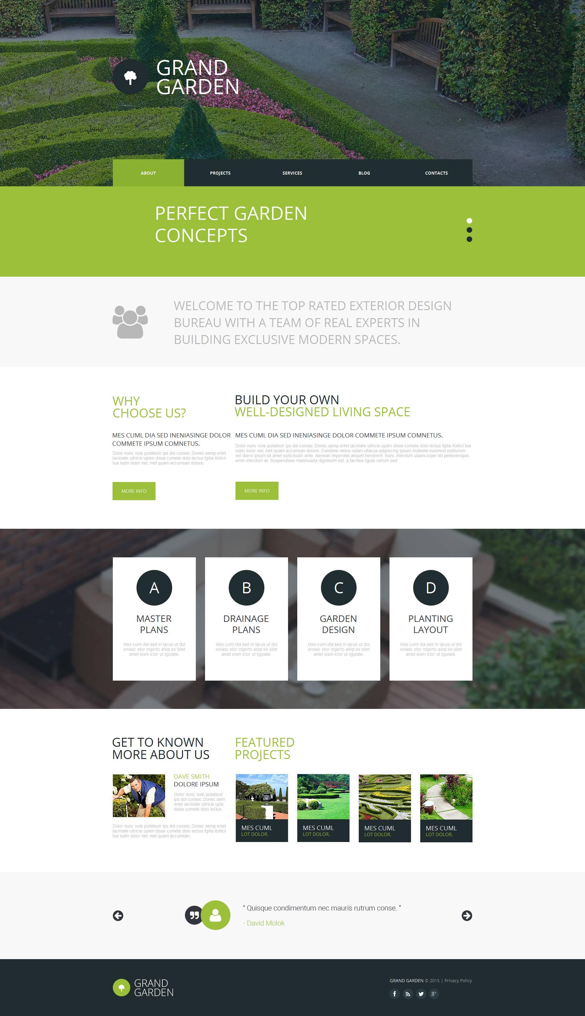Luxusní Moto CMS HTML šablona na téma Design zahrady #53049