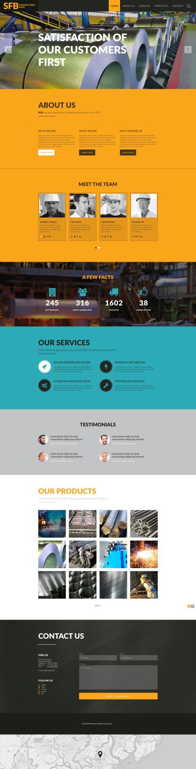 Industrial Responsive Шаблон сайту