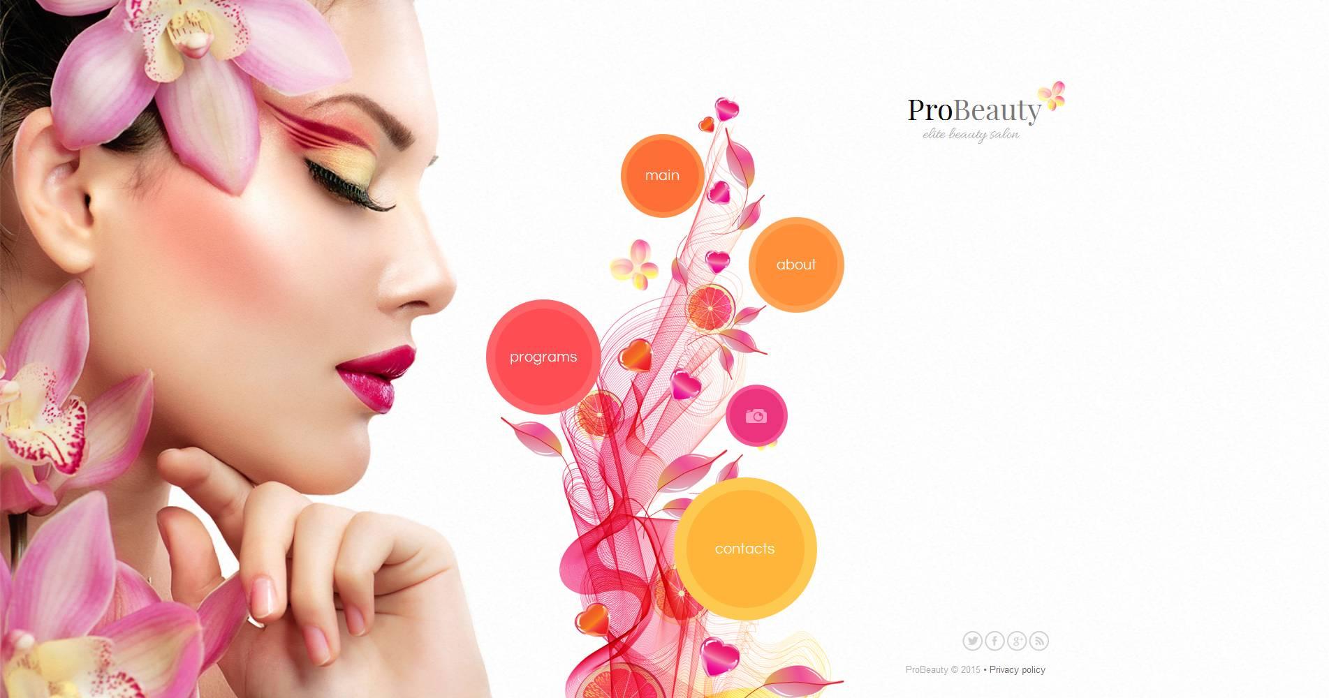 Modèle Moto CMS HTML Premium pour salon de beauté #53054