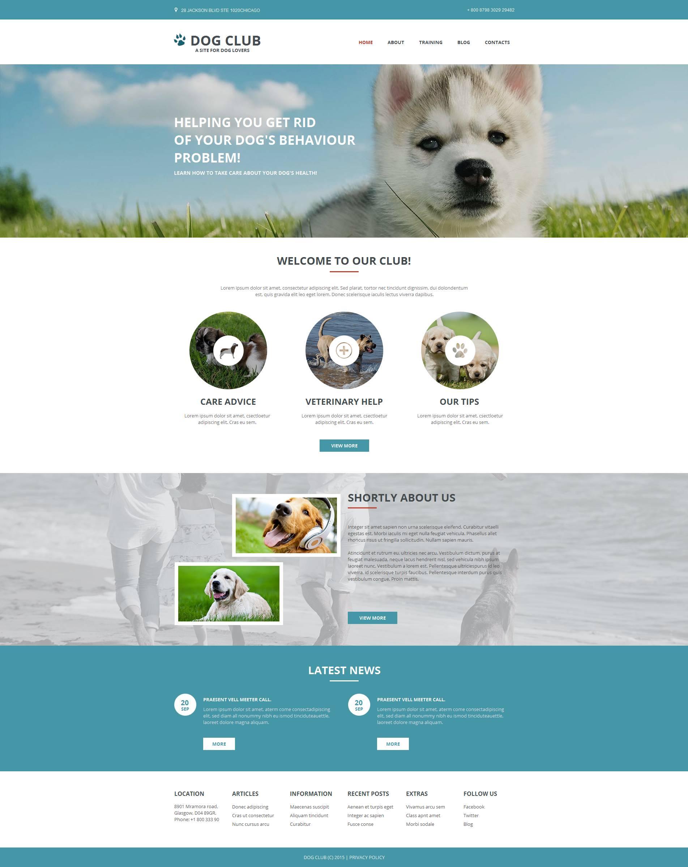Modello Moto CMS HTML #53048 per Un Sito di Cani