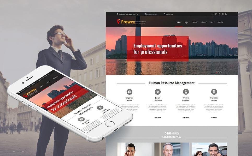 Moto CMS HTML Vorlage für  Jobportals New Screenshots BIG