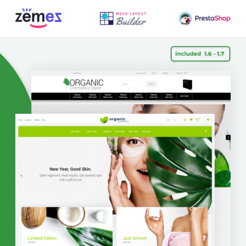 Organic - PrestaShop Template based on Bootstrap