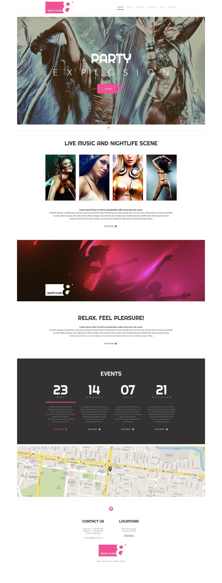 Night Club WordPress Theme New Screenshots BIG