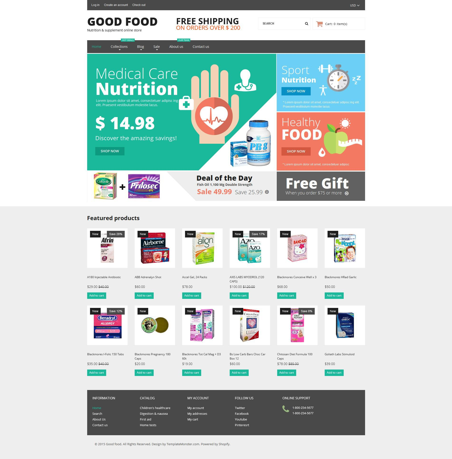 Nutrition store responsive shopify theme 53081 nutrition store responsive shopify theme pronofoot35fo Image collections