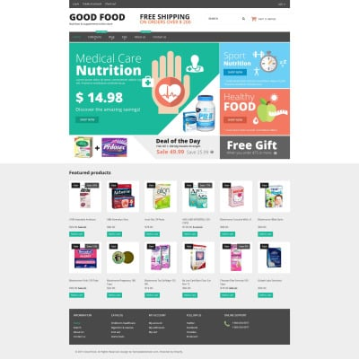Nutrition Store Templates TemplateMonster - How to create an invoice in excel vitamin store online