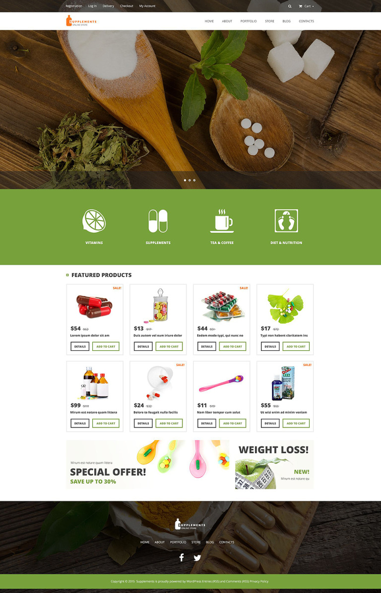 Nutrition Supplements WooCommerce Theme New Screenshots BIG