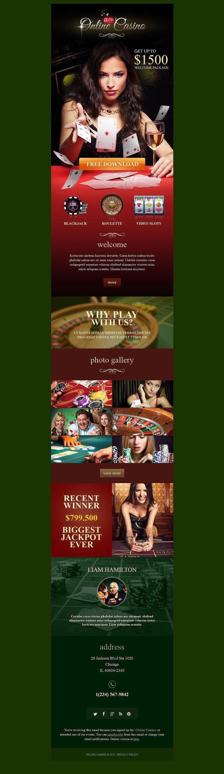Online Casino Responsive Newsletter Template New Screenshots BIG