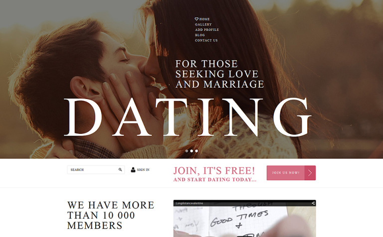 12 Dating Website Themes & Templates