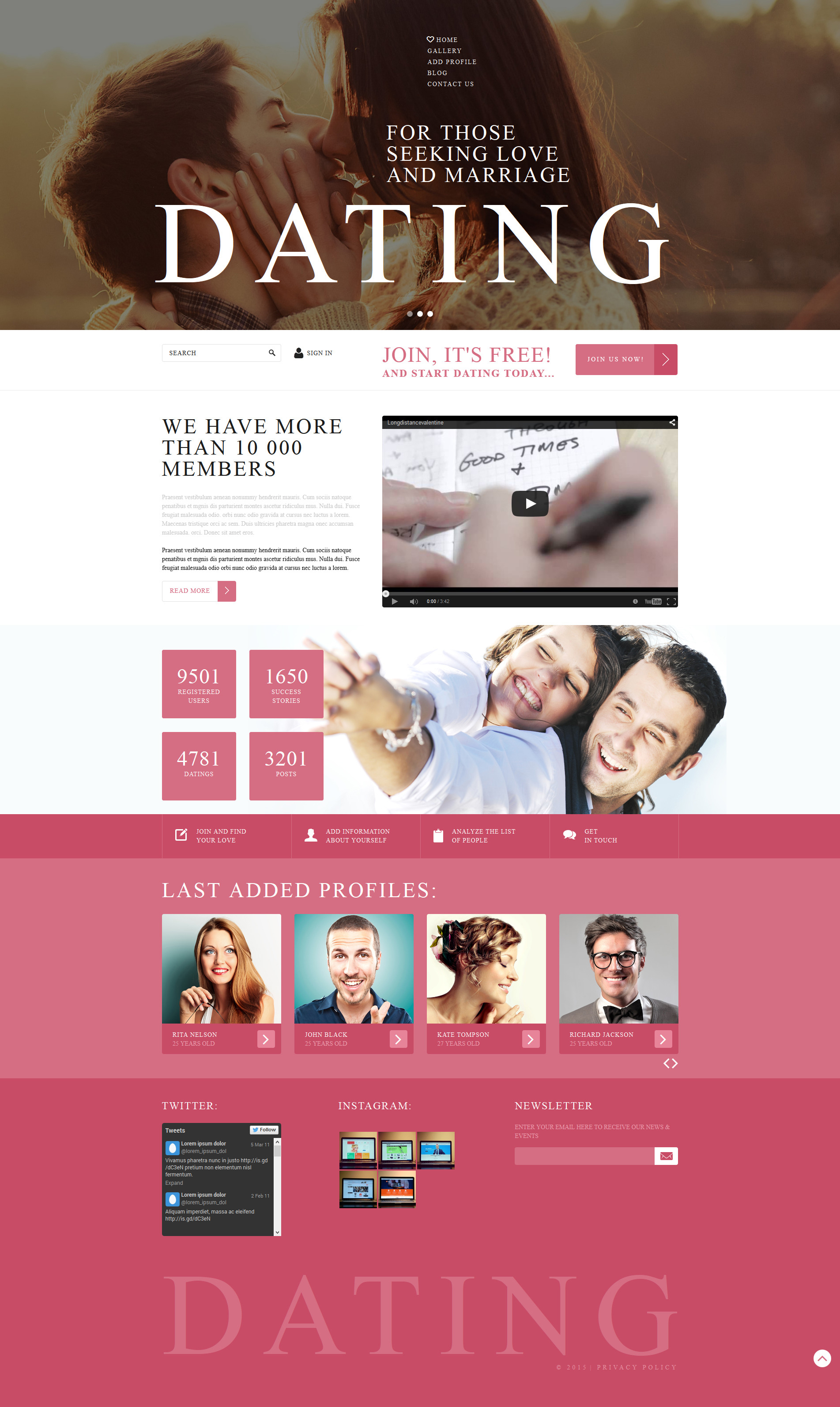 Online Dating Services Template Joomla №53006