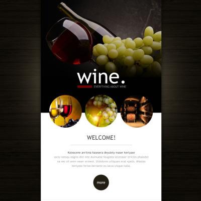 Responsive Plantilla De Boletín De Noticias #53029 para Sitio de  para Sitio de Vino