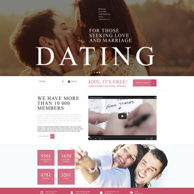 Responsive Plantilla Joomla #53006 para Sitio de  para Sitio de Búsqueda de pareja