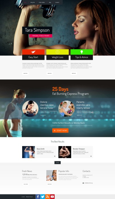 Personal Page Moto CMS HTML Template