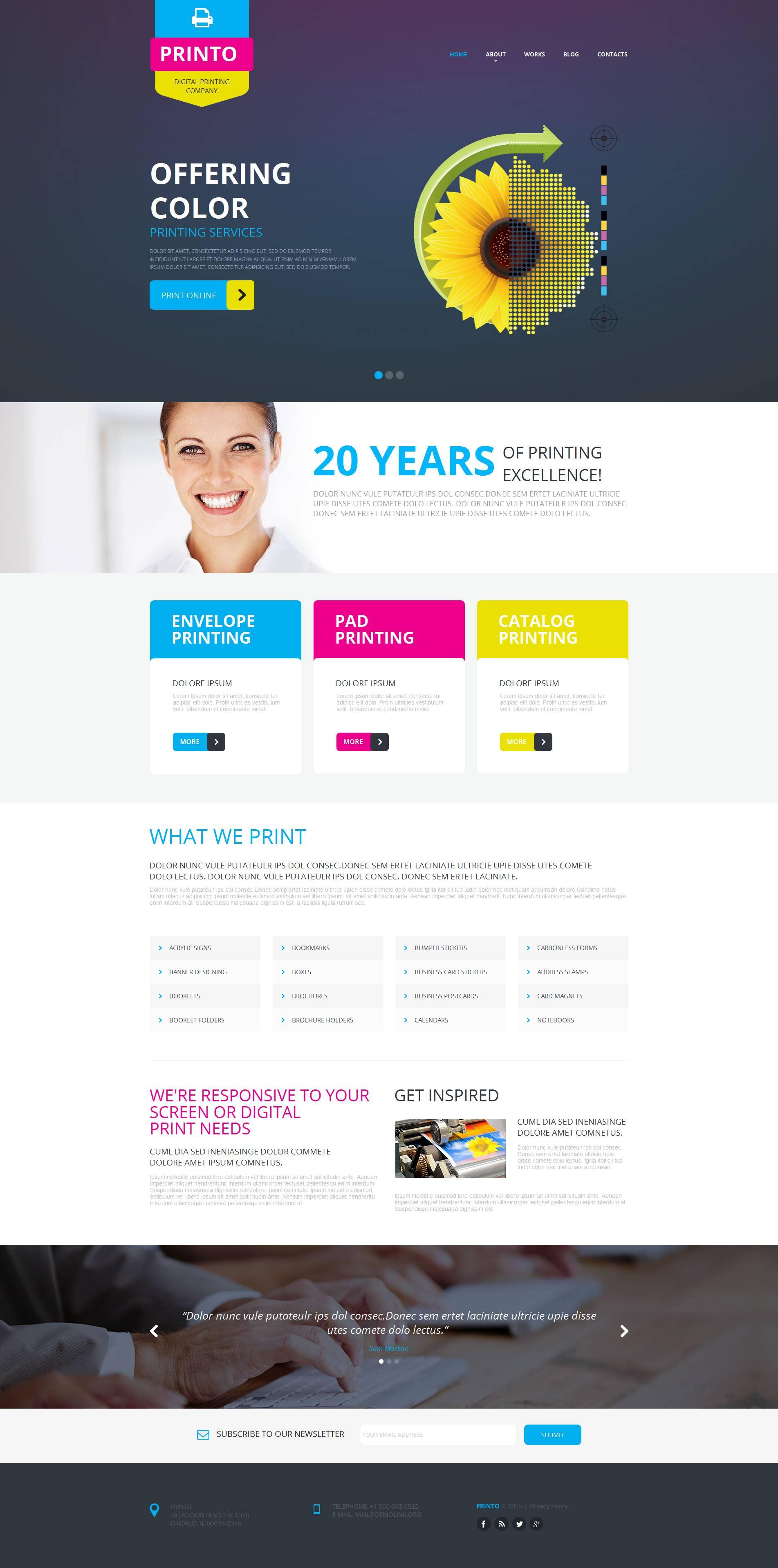 Print Shop Moto CMS HTML Template