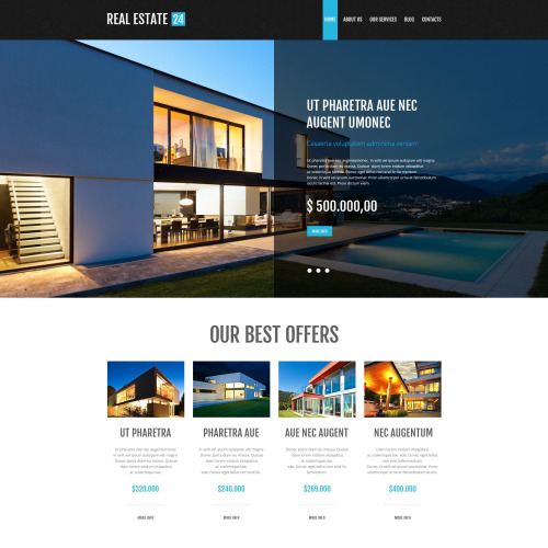 Realtor Estate 24 - WordPress Template based on Bootstrap