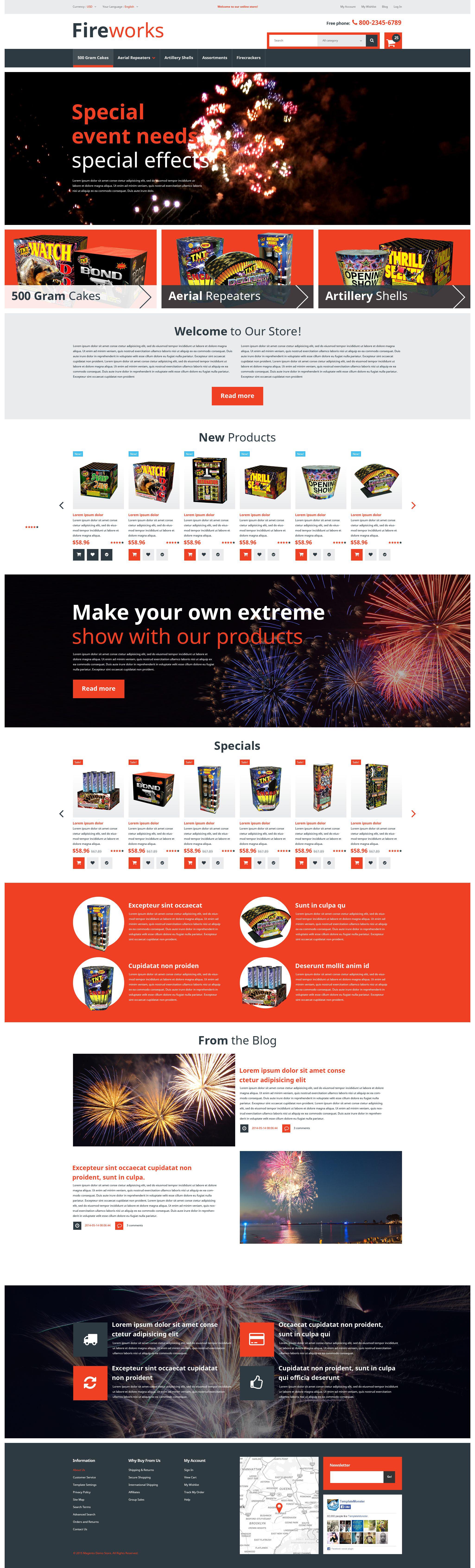 Responsive Fireworks Store Magento #53032