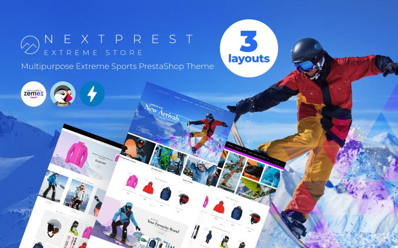 Responsivt Nextprest - Multipurpose Extreme Sports PrestaShop-tema #53088