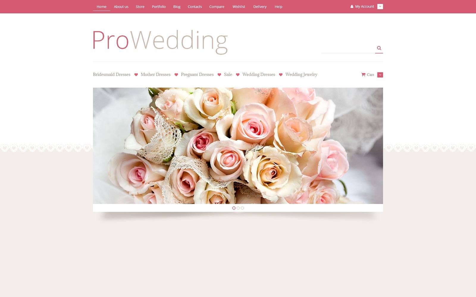 Responsywny motyw WooCommerce Sklep akcesoria ślubnych #53023