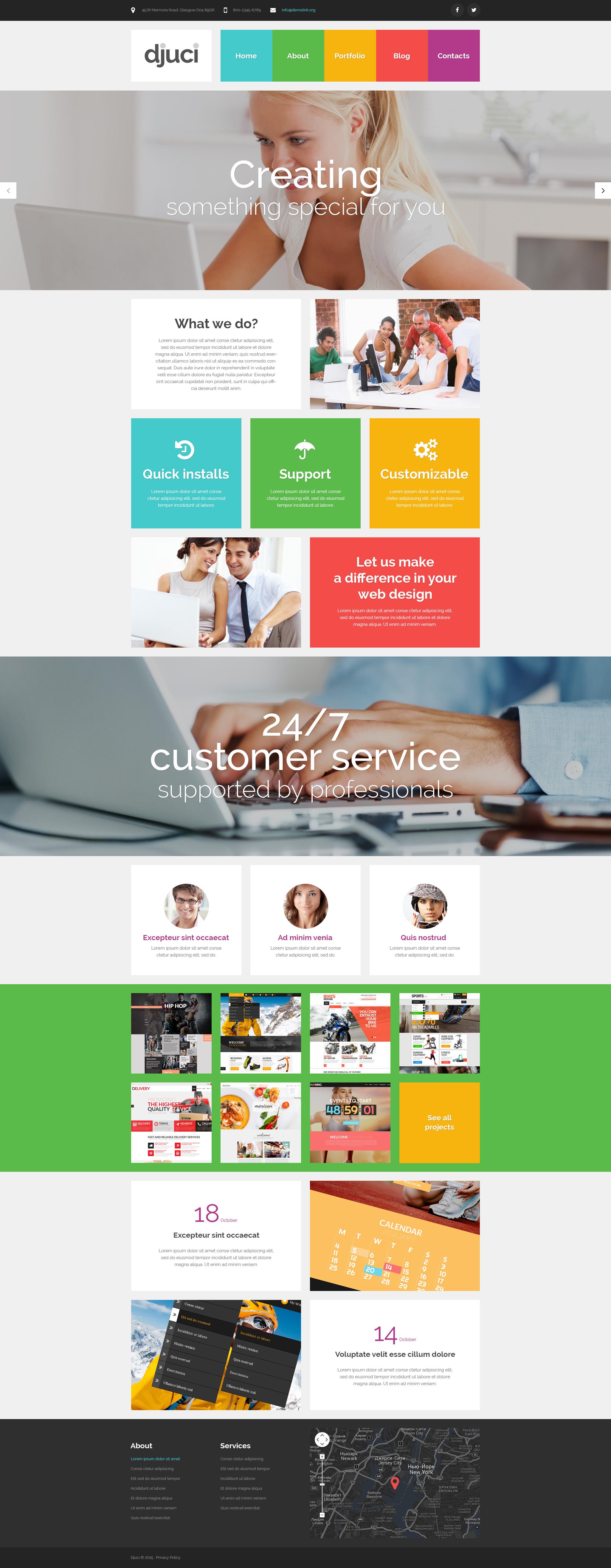 """Responzivní WordPress motiv """"Web Design"""" #53095"""