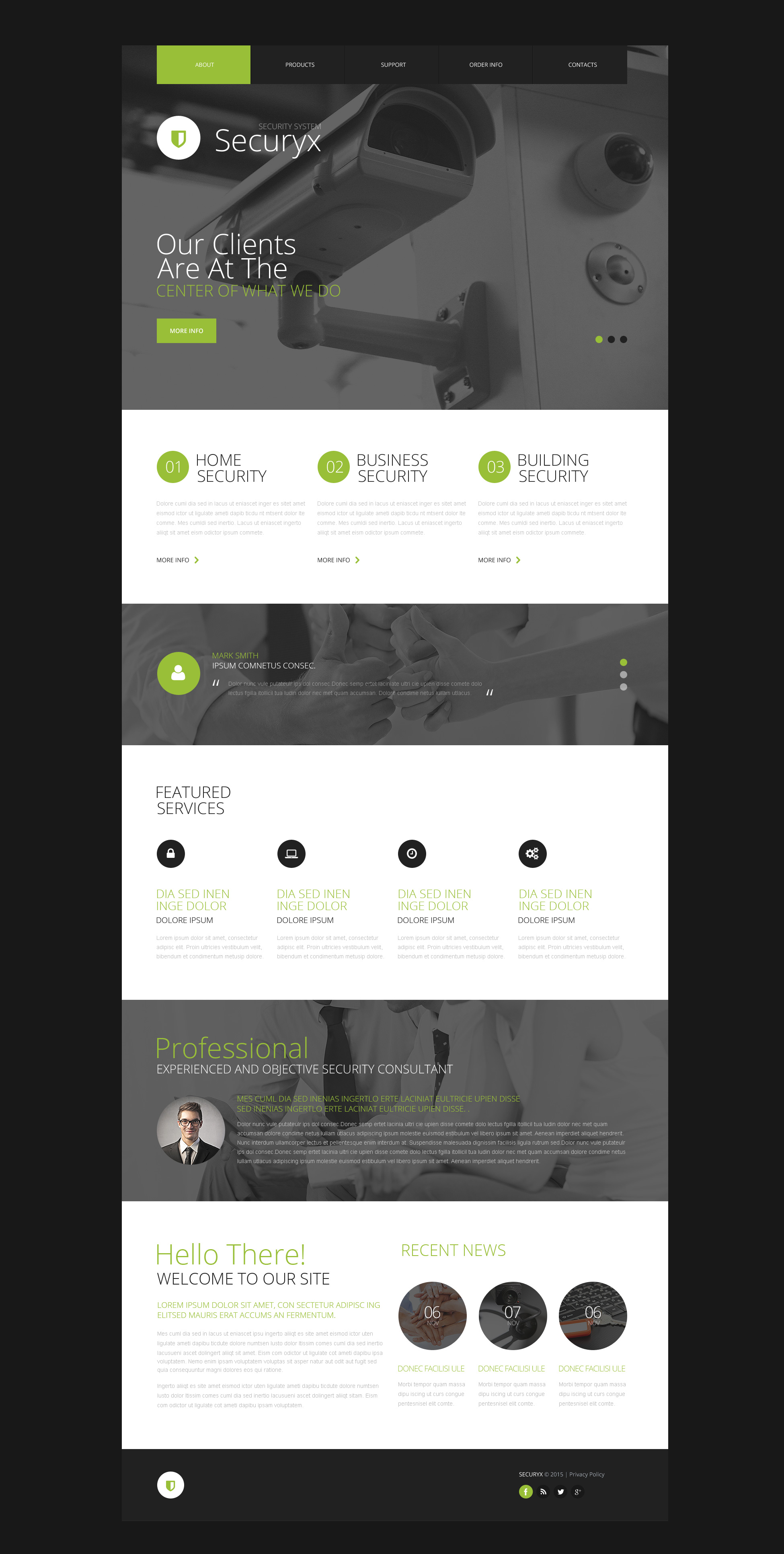 Security Systems Website Template #53086