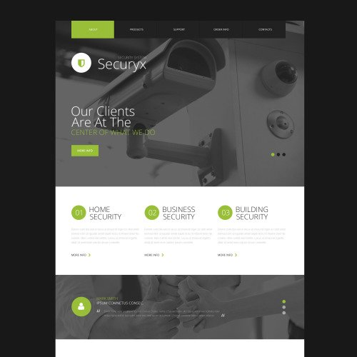 Securyx - Responsive Website Template