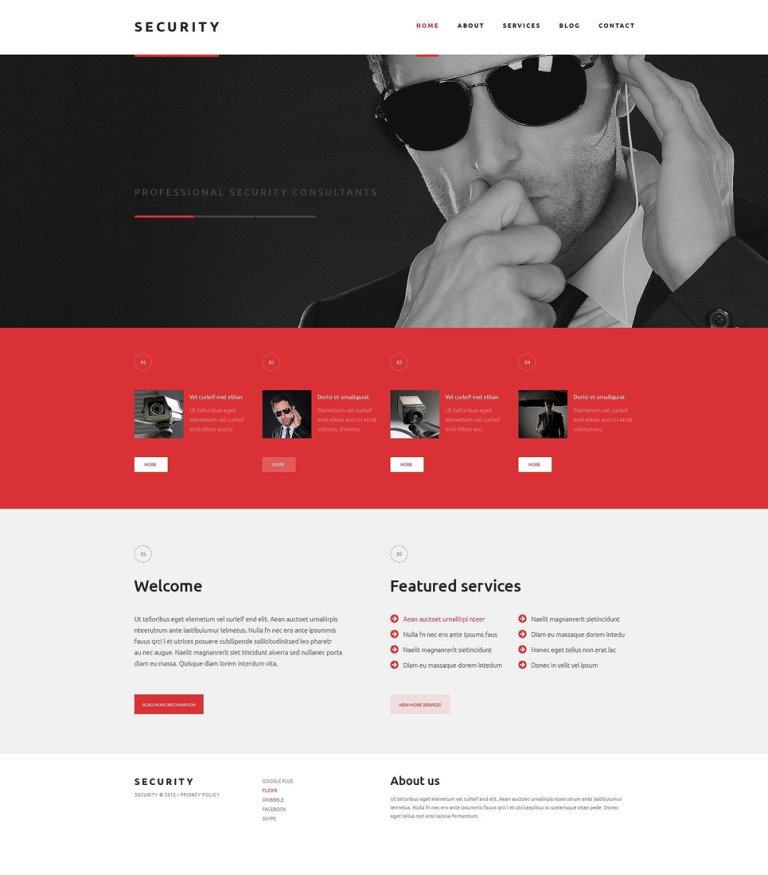 Security WordPress Theme New Screenshots BIG