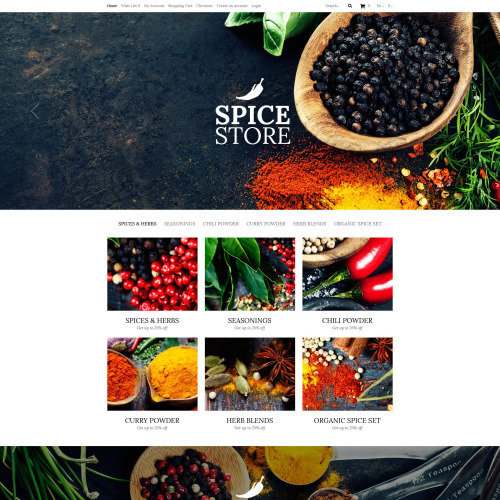 Spice Store - OpenCart Template based on Bootstrap