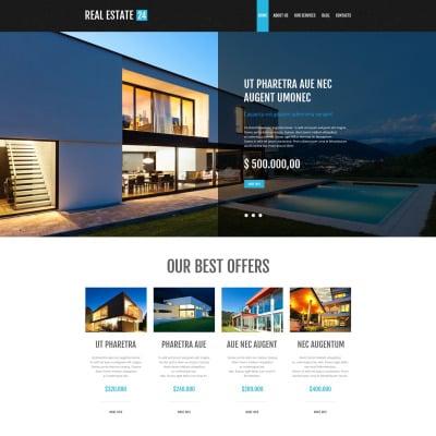 Tema de WordPress #53001 para Sitio de Agencias inmobiliarias