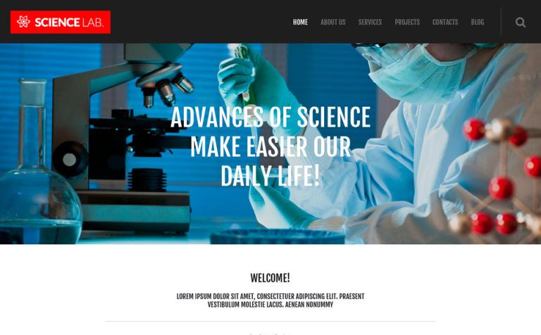Tema de WordPress #53090 para Sitio de Laboratorios científicos