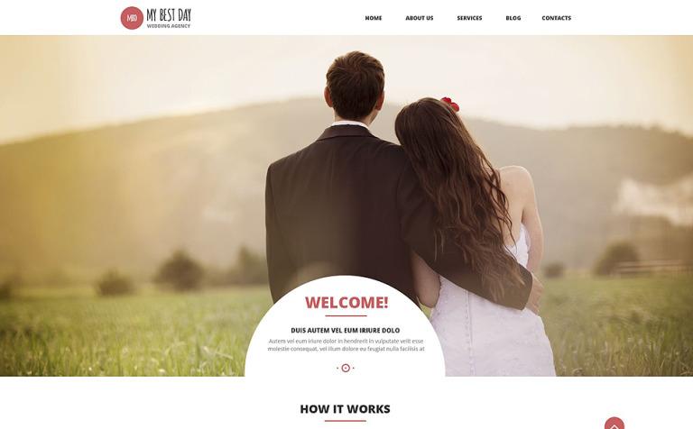 Tema de WordPress #53015 para Sitio de Organización de bodas