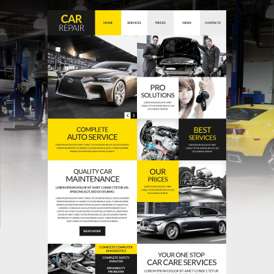 Tema de WordPress #53012 para Sitio de Reparación de coches