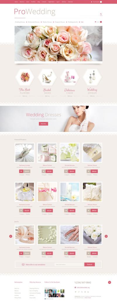 Tema WooCommerce para Sitio de Tienda de Artículos para Boda #53023