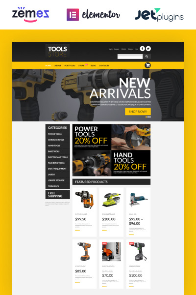 Tools Online Store WooCommerce Theme #53020