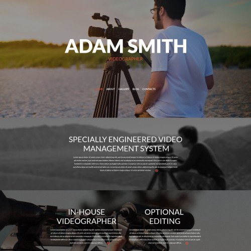 Adam Smith - WordPress Template based on Bootstrap
