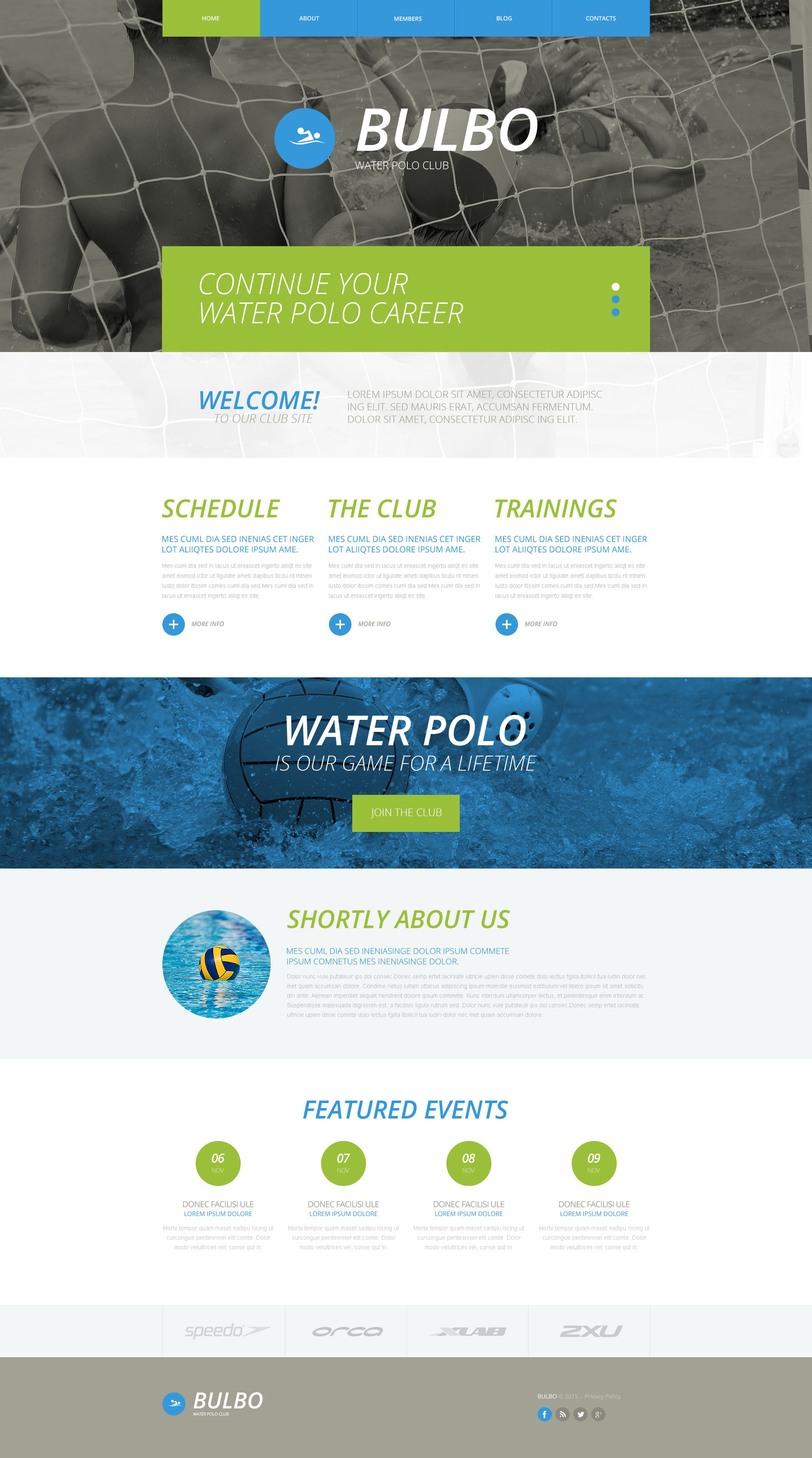 Water Polo Website Template