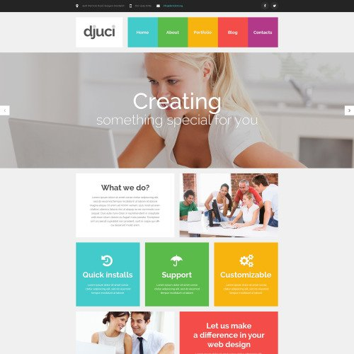 Djuci - WordPress Template based on Bootstrap