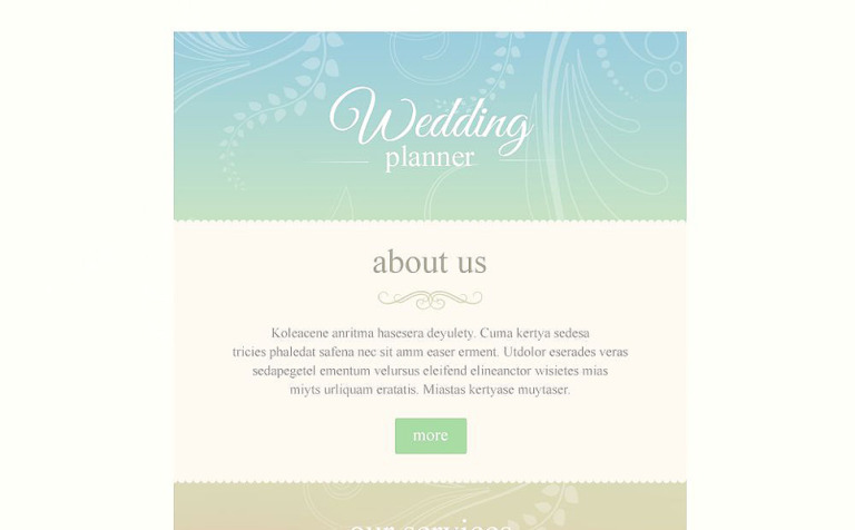 wedding planner responsive newsletter template 53089