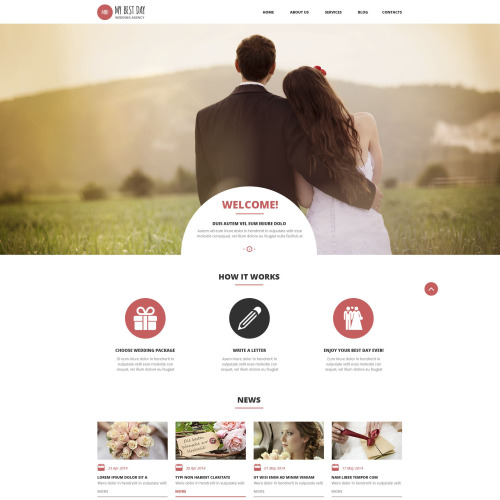 My best Day - WordPress Template based on Bootstrap