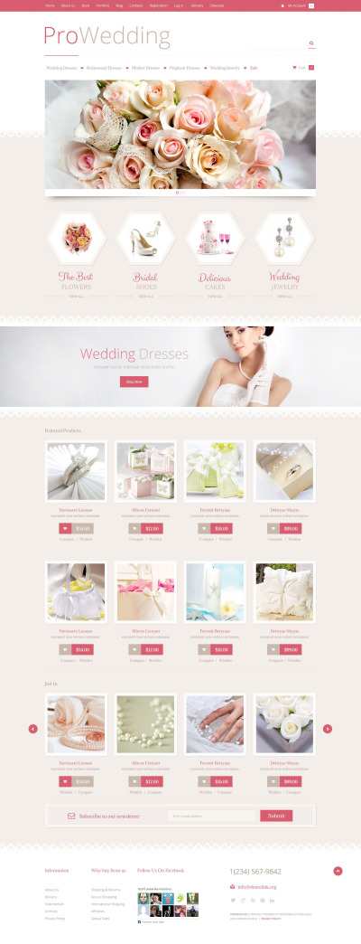 """Wedding Store"" Responsive WooCommerce Thema #53023"