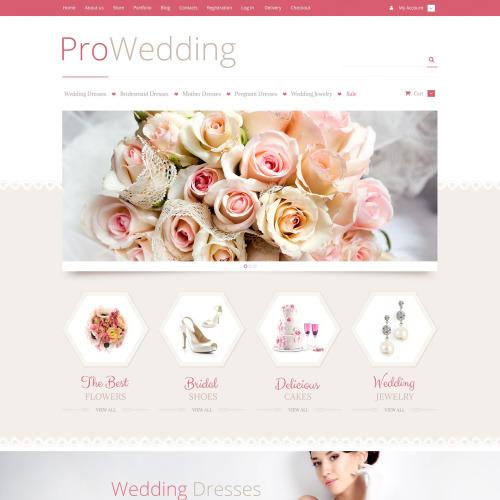 Pro Wedding - WooCommerce Template based on Bootstrap